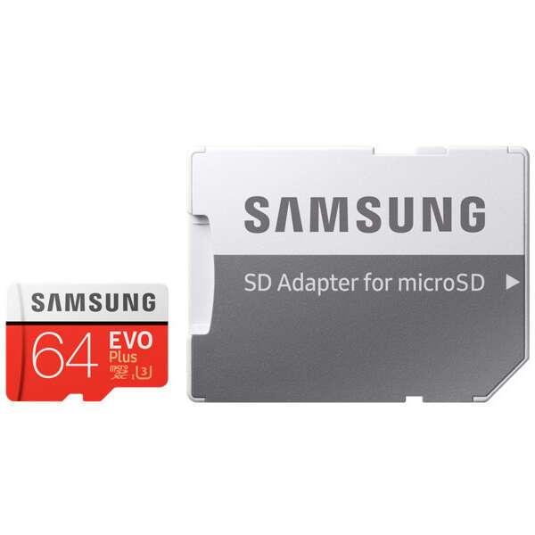 Карта памяти Samsung Evo Plus microSDXC 64GB Class 10 (MB-MC64GARU)