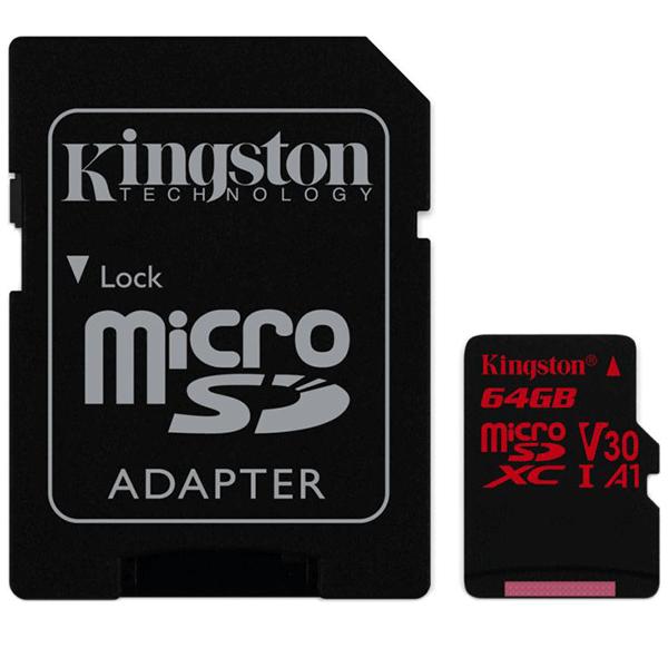 Карта памяти Kingston Canvas React microSDHC 64GB Class 3 (SDCR/64GB)