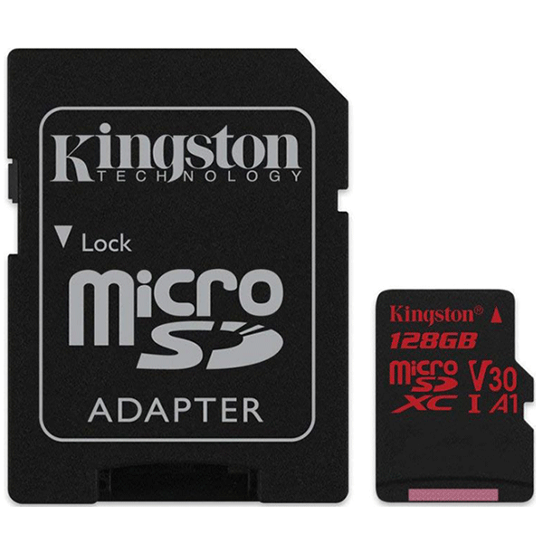 Карта памяти Kingston Canvas React microSDHC 128GB Class 3 (SDCR/128GB)