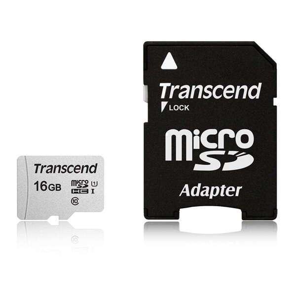Карта памяти Transcend MicroSDHC 16 GB UHS-I class 1 + A (TS16GUSD300S)