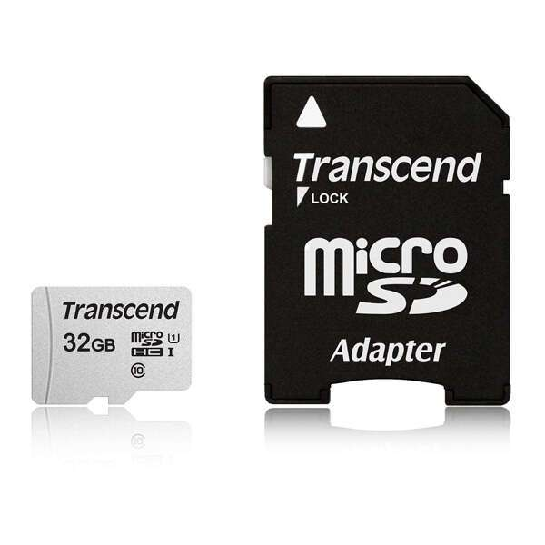 Карта памяти Transcend MicroSDHC 32 GB UHS-I class 1 + A (TS32GUSD300S)