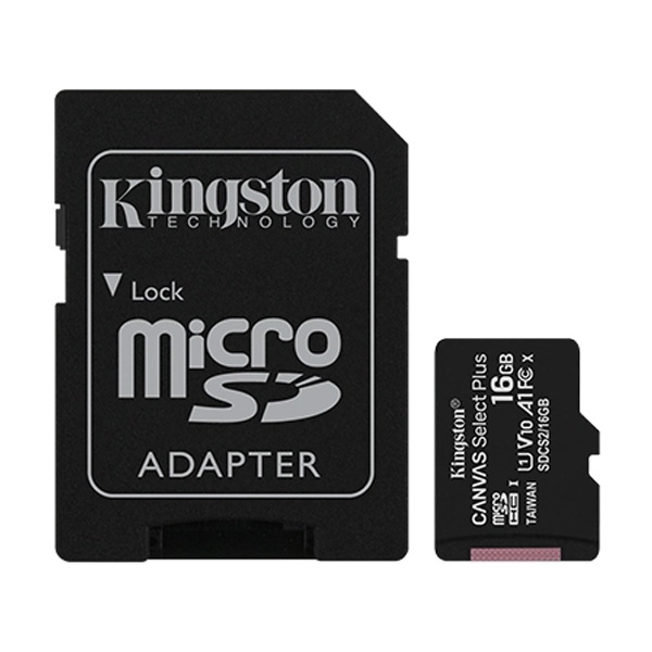 Карта памяти Kingston MicroSDXC 16 GB UHS-I class 1 + A (SDCS2/16GB)