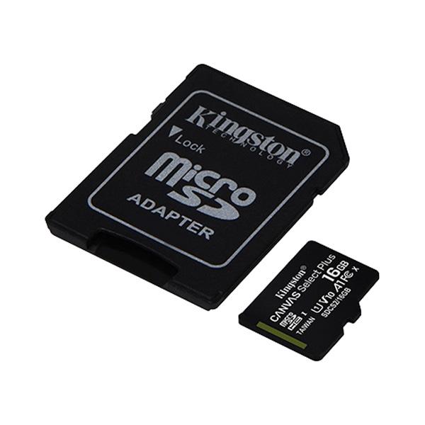 Карта памяти Kingston MicroSDXC 16 GB UHS-I class 1 + A (SDCS2/16GB)