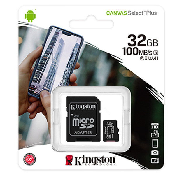 Карта памяти Kingston Canvas Select Plus microSDHC 32GB Class 10 (SDCS2/32GB)