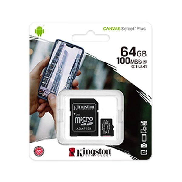 Карта памяти Kingston Canvas Select Plus microSDHC 64GB Class 10 (SDCS2/64GB)