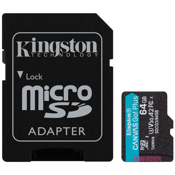 Карта памяти Kingston Canvas Go Plus microSDXC 64GB Class 10 (SDCG3/64GB)
