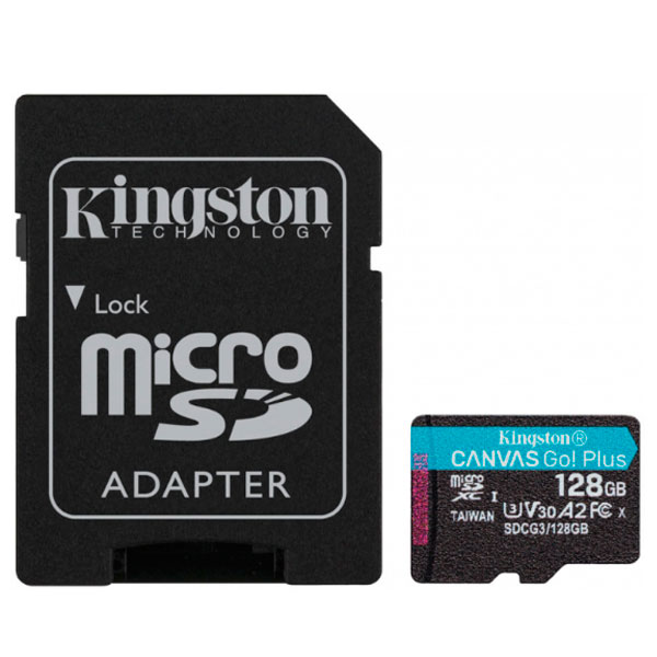 Карта памяти Kingston Canvas Go Plus microSDXC 128GB Class 10 (SDCG3/128GB)