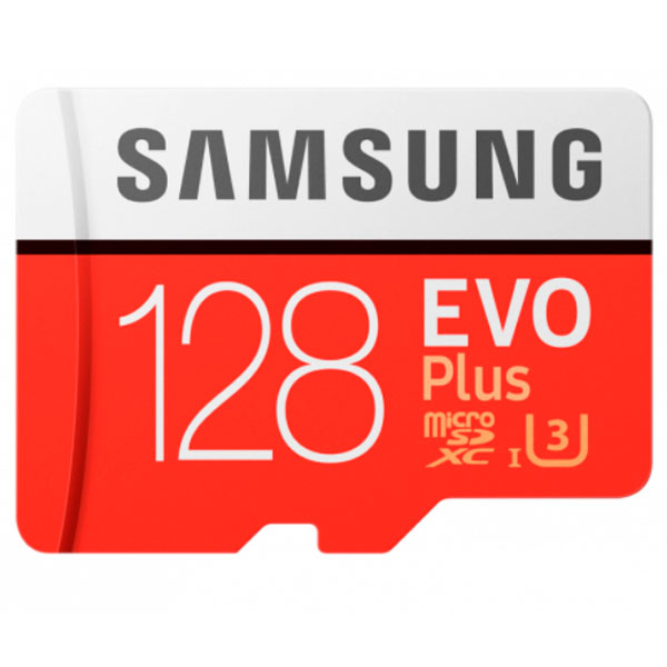 Карта памяти Samsung Evo Plus microSDXC 128GB Class 10 (MB-MC128HA/RU)