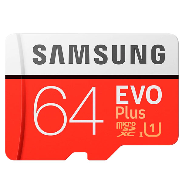 Карта памяти Samsung Evo Plus microSDXC 64GB Class 10 (MB-MC64HA/RU)