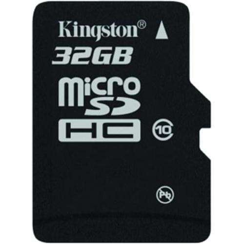 Карта памяти Kingston 32GB microSDHC Class 10 Flash Card Single Pack + Adapter
