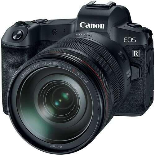 Беззеркальная камера Canon EOS R с адаптером крепления и объективом RF 24-105mm f/4L IS USM EOS R +RF
