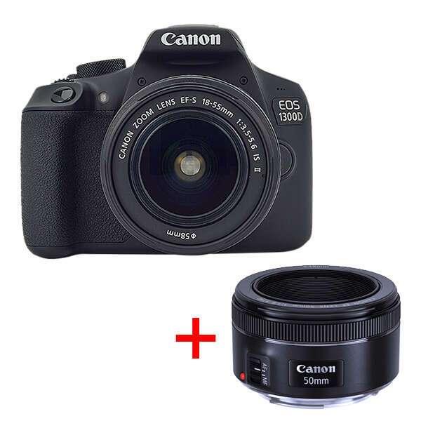 Цифровая фотокамера Canon EOS 1300D 18-55 + 50 1,8 STM