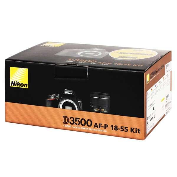 Цифровая зеркальная фотокамера Nikon D3500 + AF-P 18-55 non VR