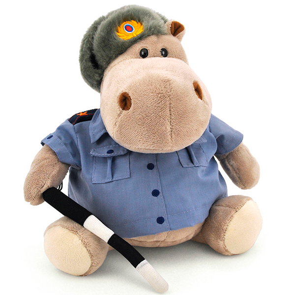 Мягкая игрушка Orange Бегемот Полицейский 20см