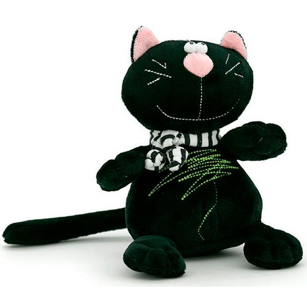 Мягкая игрушка Orange Кот Батон 15 см черный
