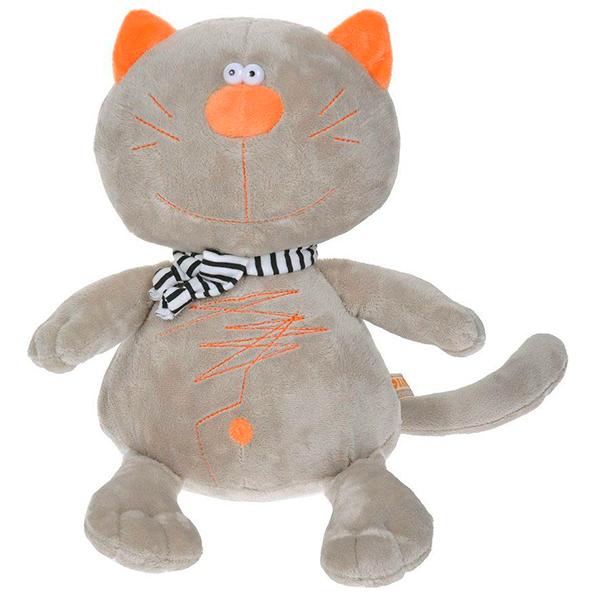 Мягкая игрушка Orange Кот Батон 30см серый