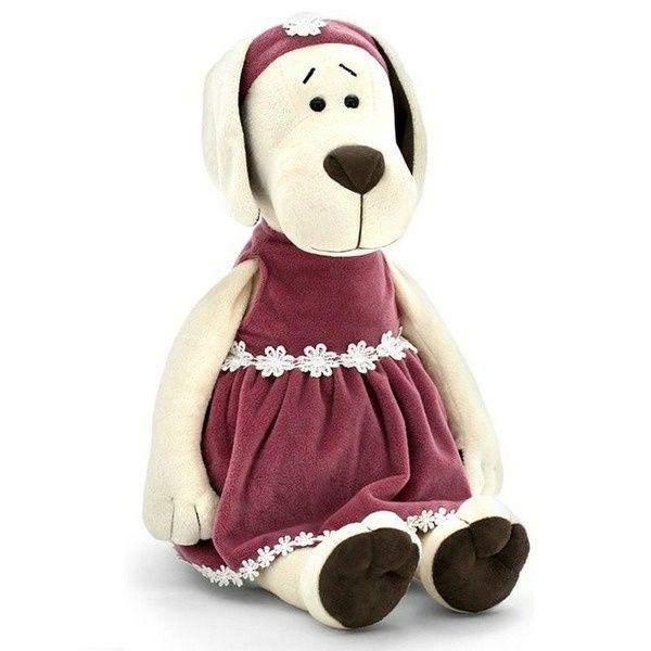 Мягкая игрушка Orange Собачка Лапуська в бархатном платье (20см)
