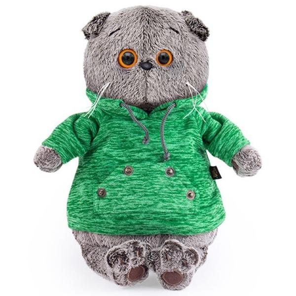 Мягкая игрушка Basik Басик в зеленой толстовке с карманом-кенгуру