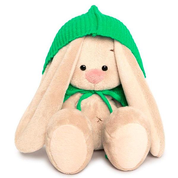 Мягкая игрушка Зайка Ми Зайка в зеленом пончо 15см
