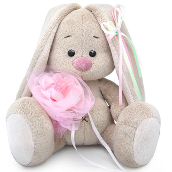 Мягкая игрушка Зайка Ми Зайка Ми c розовым цветком (малыш)