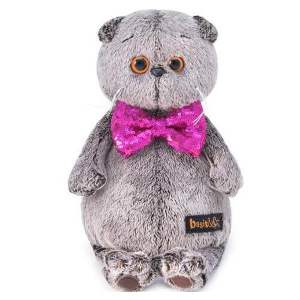 Мягкая игрушка Budi Basa Басик в галстуке-бабочке в пайетках 25см