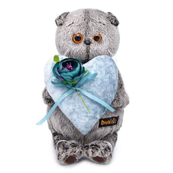 Мягкая игрушка Budi Basa Басик с сердцем из бархата 25см