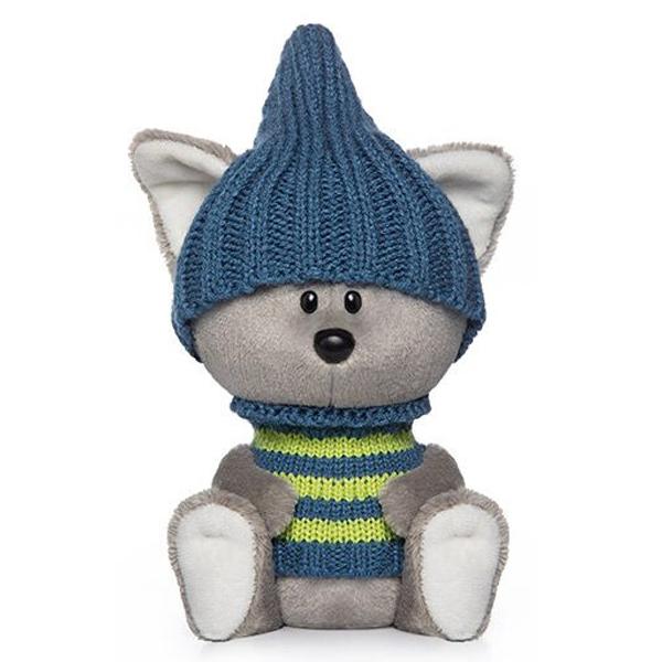 Мягкая игрушка Budi Basa Волчонок Вока в шапочке и свитере 15см