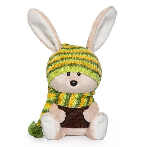 Мягкая игрушка Budi Basa Заяц Антоша в шапочке и свитере 15см