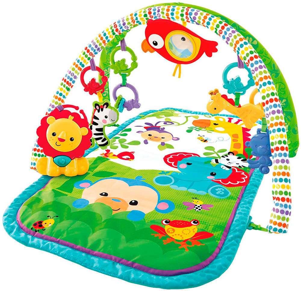 """Игрушка для малышей Fisher-Price Музыкальный Игровой коврик 3-в-1 """"Друзья из тропического леса""""CHP85"""