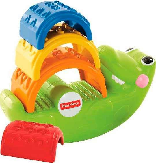 """Игрушка для малышей Fisher-Price Пирамидка """"Веселый крокодил"""" CDC48"""