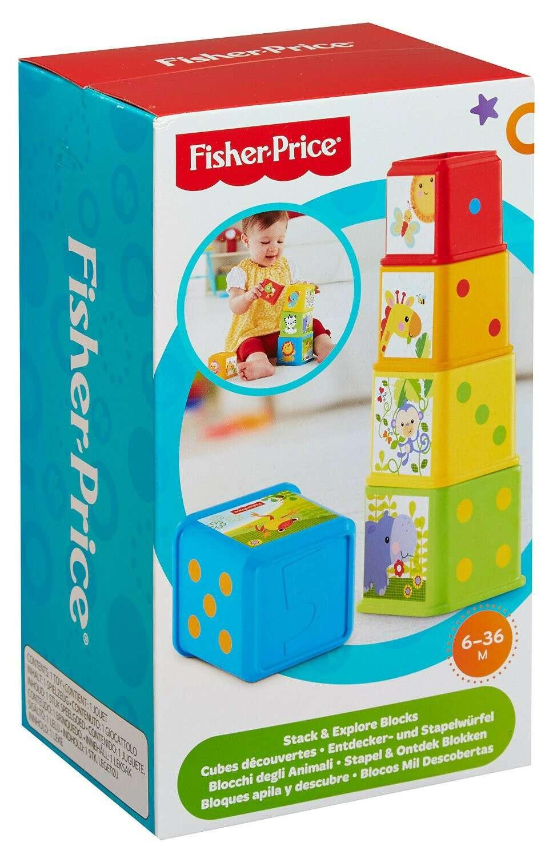 """Игрушка для малышей Fisher-Price Пирамидка стаканчики """"Веселые животные """"CDC52"""