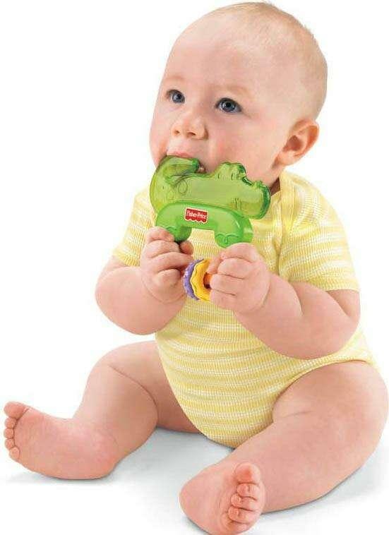"""Игрушка для малышей Fisher-Price Зубопрорезыватель """"Крокодильчик"""" T8380"""