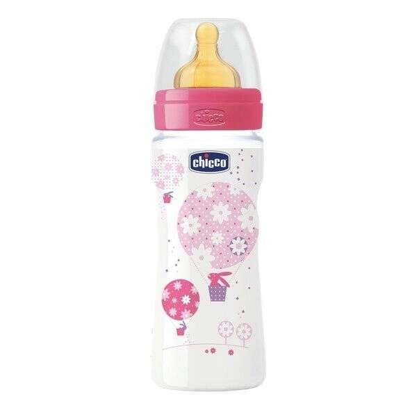 Бутылочка Chicco Wellbeing латекс 330 ml  для каш