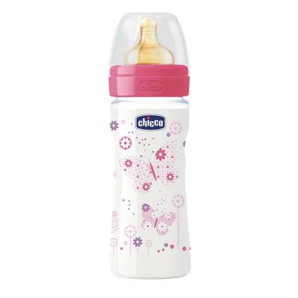 Бутылочка Chicco Wellbeing ADJ GIRL 250мл латекс