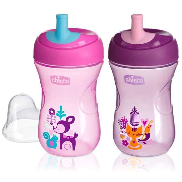 Поильник Chicco Advanced cup 12м+ GIRL, 1 шт