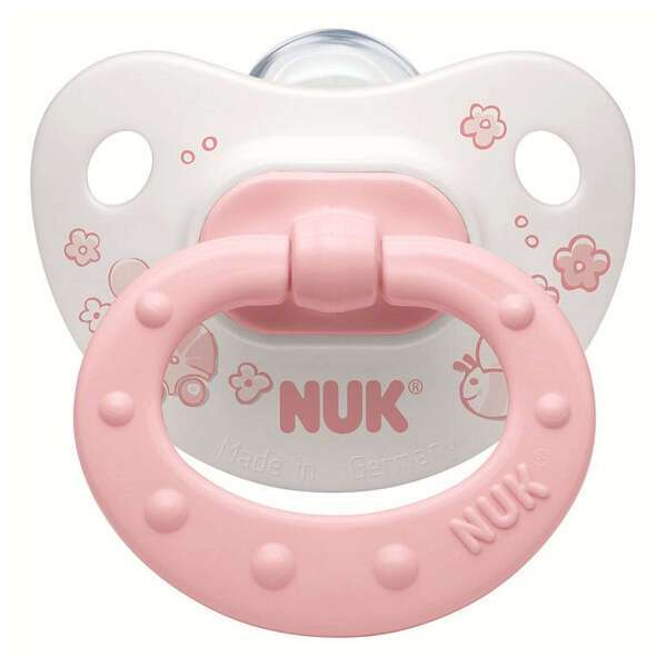 Пустышка Nuk 0-6 м сил Baby Rose Classik