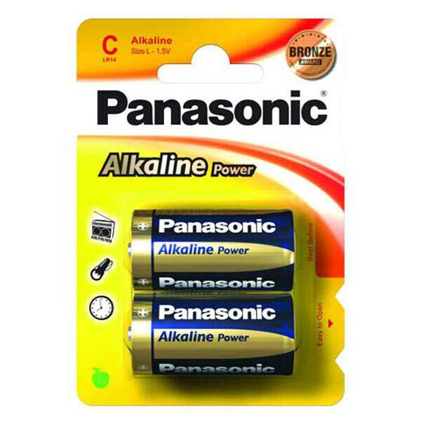 Батарейка Panasonic Alkaline Power LR14APB/2BP тип С
