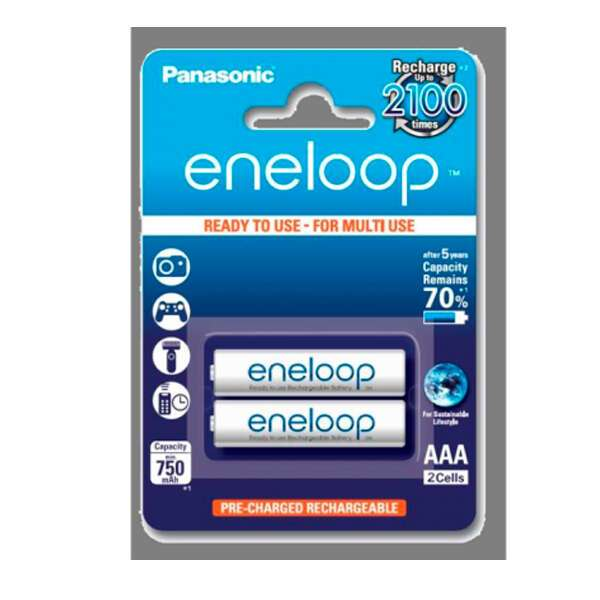 Аккумулятор Panasonic Eneloop BK-4MCCE/2BE 750 mAh/2BP тип AAA