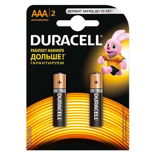Батарейки Duracell Basic AAA 2 шт.