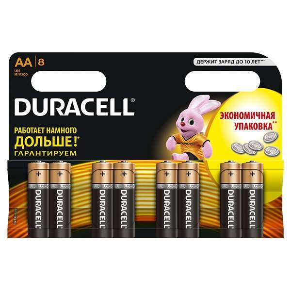 Батарейки Duracell Basic AA 8 шт.