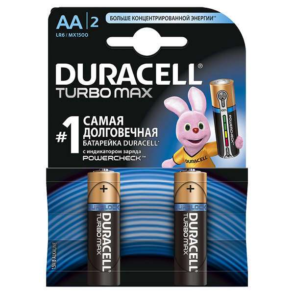 Батарейки Duracell Turbo Max АA 2 шт.