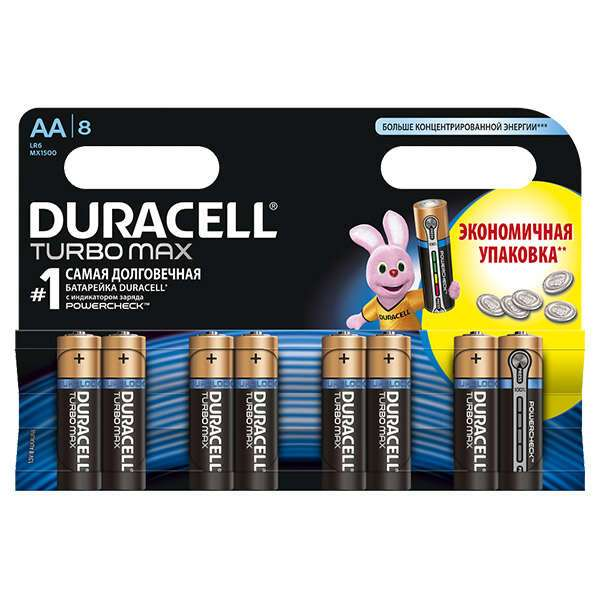 Батарейки Duracell Turbo Max АA 8 шт.