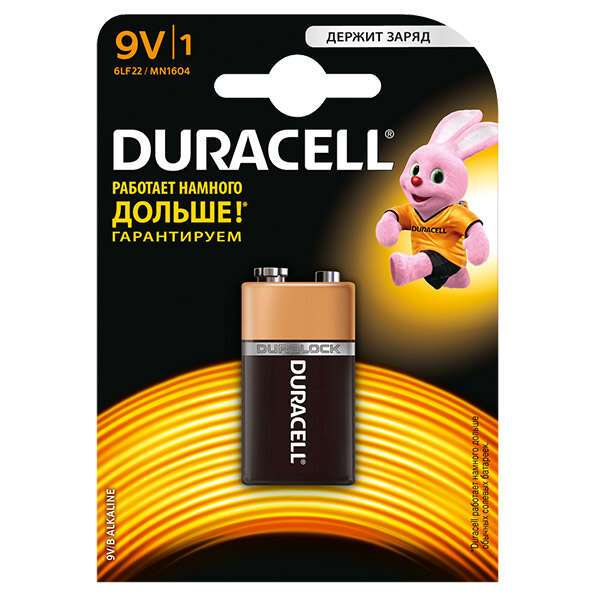 Батарейка Duracell 9V / LR61