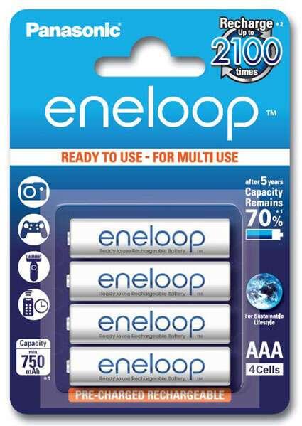 Аккумулятор Panasonic  Eneloop AAA 750 mAh4B (BK-4MCCE/4BE)
