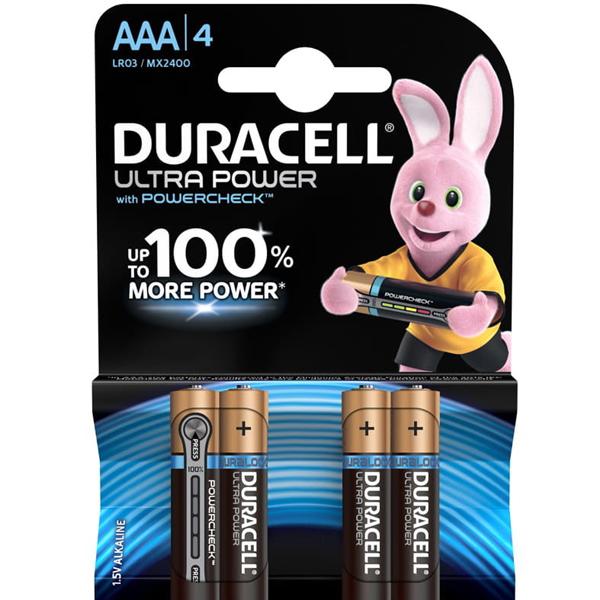 Батарейки Duracell Ultra  ALK AAA 4KP CEE M6