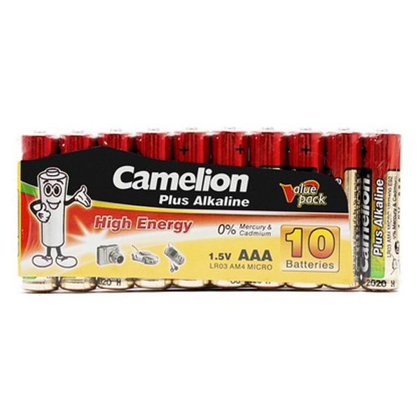 Батарейка CAMELION Plus Alkaline LR03-SP10-DA (10шт)