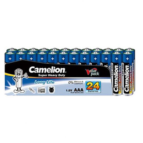 Батарейка CAMELION Super Heavy Duty R03P-SP24B (24шт)