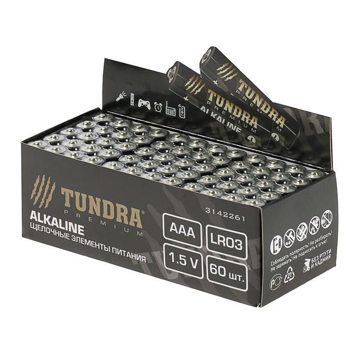 Батарейка алкалиновая TUNDRA, AAA, LR03, спайка, 4 шт
