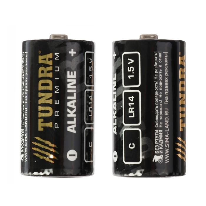 Батарейка алкалиновая TUNDRA, C, LR14, блистер, 2 шт