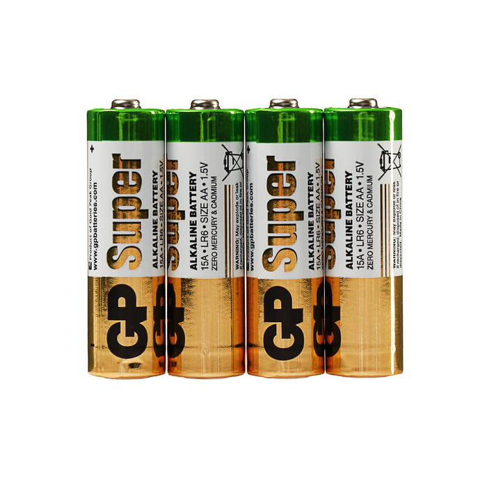 Батарейка алкалиновая GP Super, AA, LR6-10S, 1.5В, спайка, 10 шт.